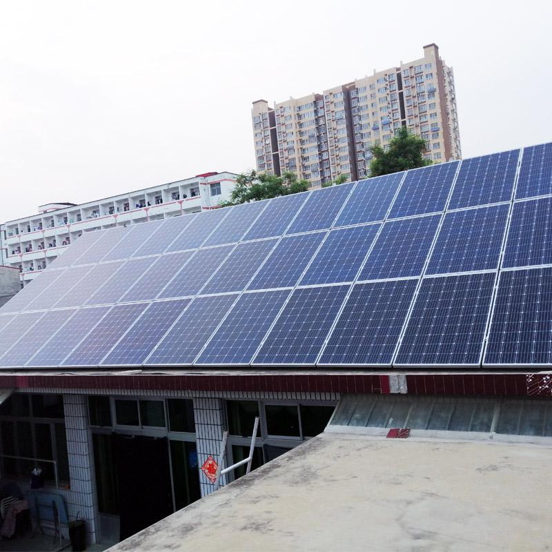 阳光创盈 15KW单晶太阳能光伏发电并网系统