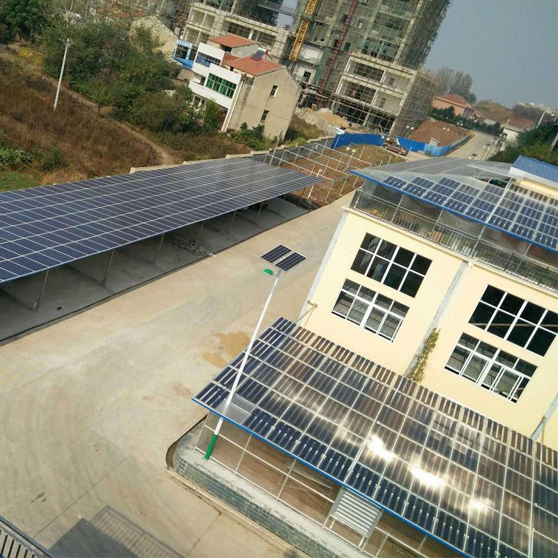 阳光创盈 15KW双玻太阳能光伏发电并网系统